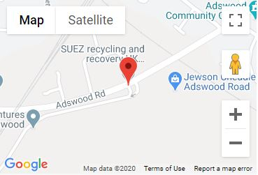 Adswood Recycling Centre Location Map