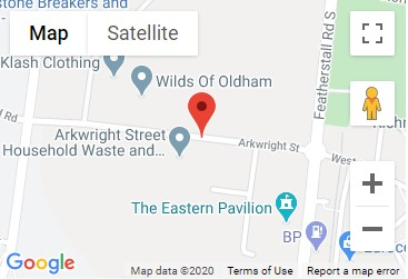 Arkwright Street Recycling Centre Location Map