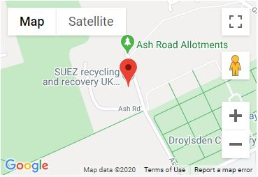 Ash Road Recycling Centre Location Map