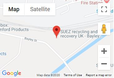 Bayley Street Recycling Centre Location Map