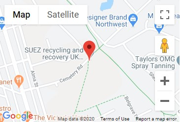 Cemetery Road Recycling Centre Location Map