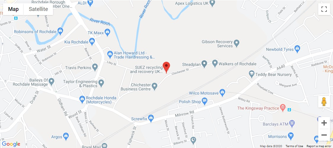 Chichester Recycling Centre Location Map