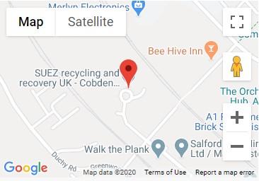 Cobden Street Recycling Centre Location Map