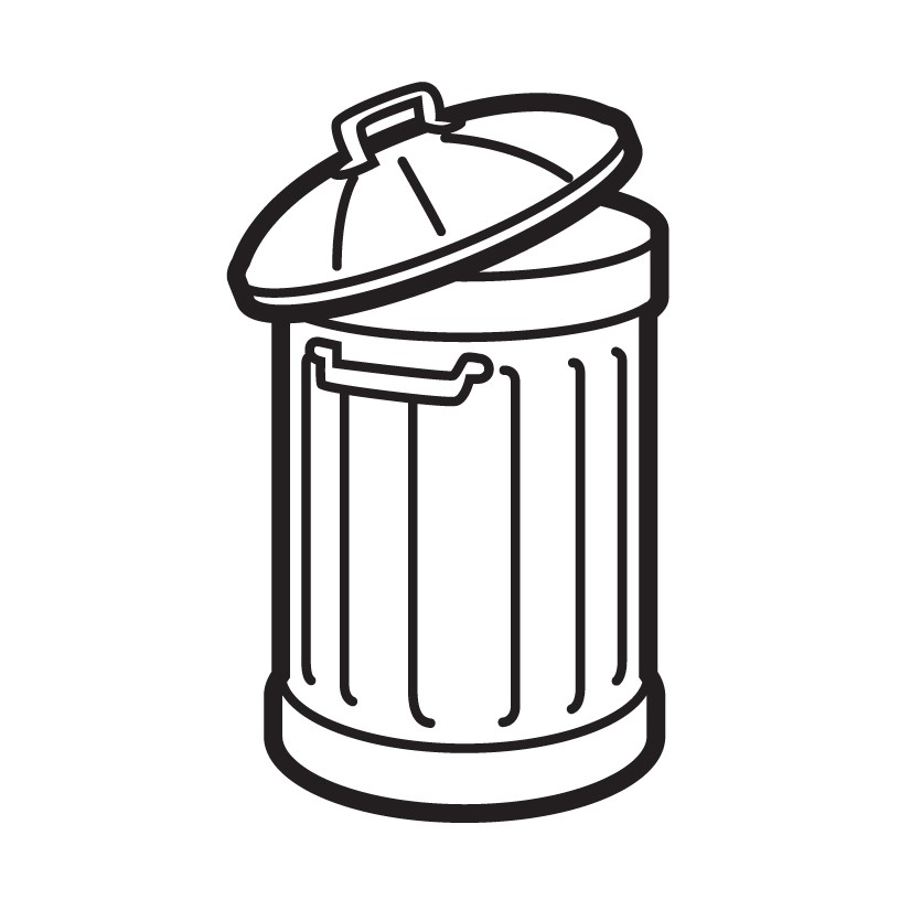 General waste bin icon