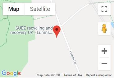Lumns Lane Recycling Centre Location Map