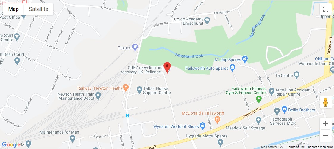 Reliance Street Recycling Centre Location Map