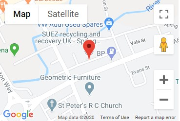 Spring Vale Recycling Centre Location Map