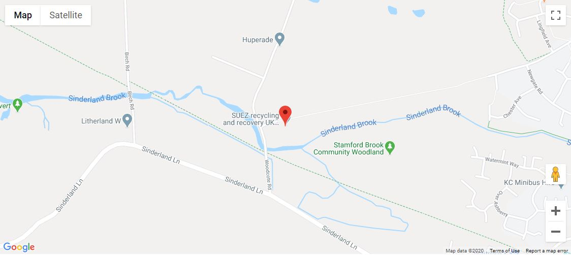 Woodhouse Lane Recycling Centre location map