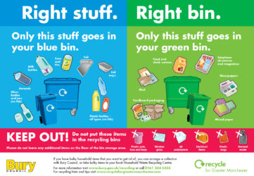 Bury Right Stuff Right Communal Bin poster