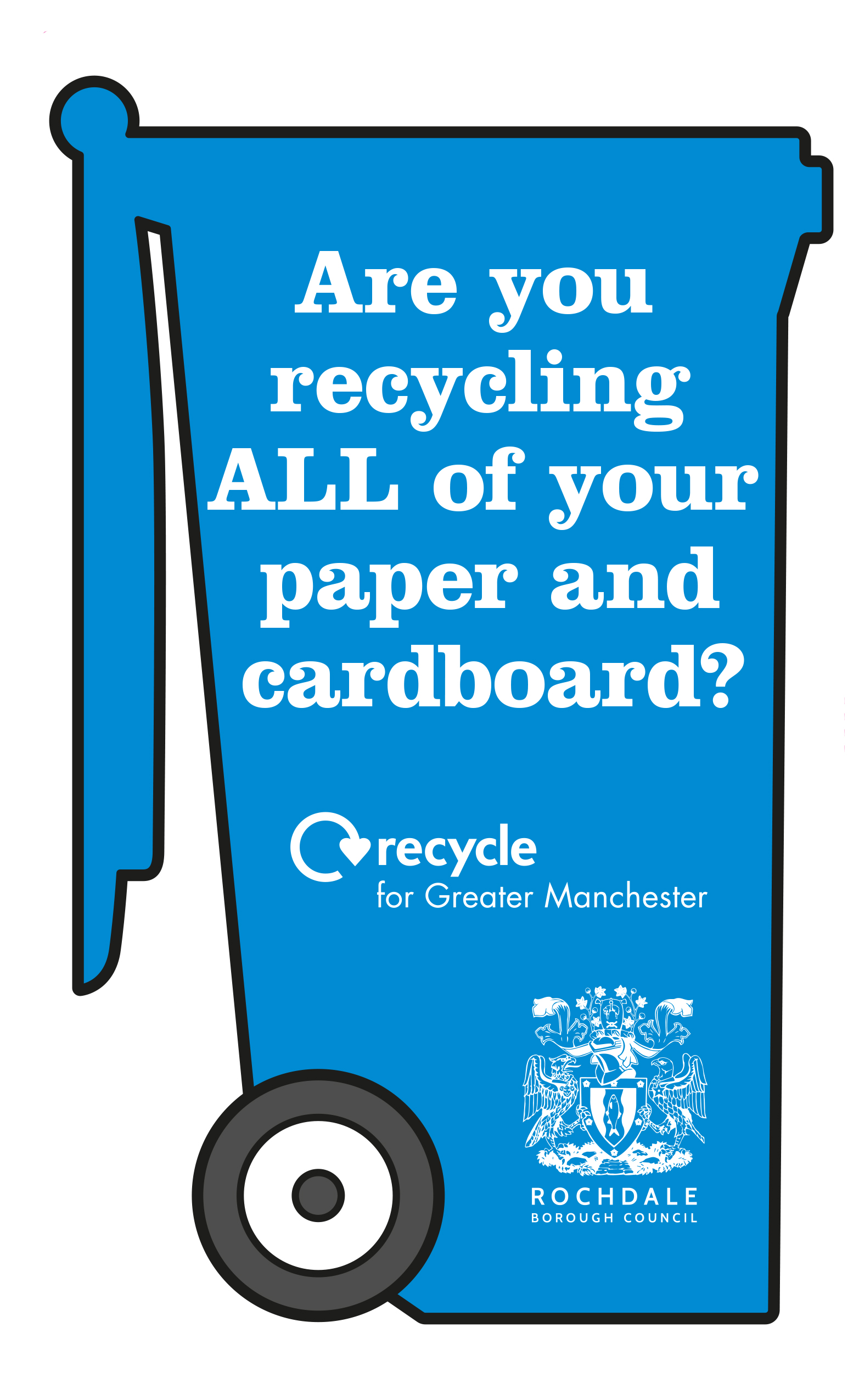 Rochdale Let's recycle more leaflet