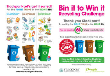 Stockport Bin it to win it Leaflet