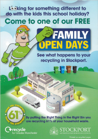 Stockport Family Open Day Flyer