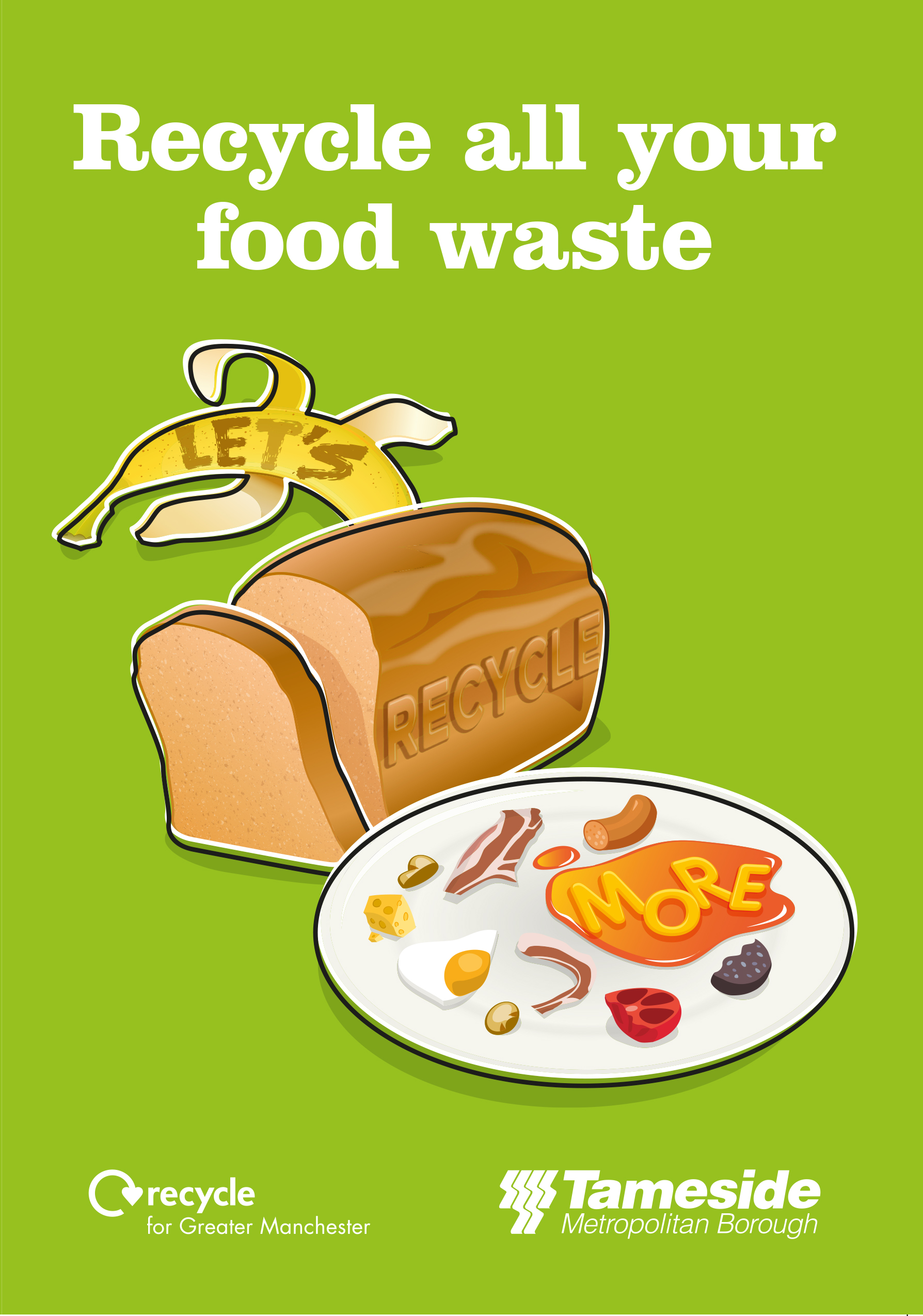 Tameside Recycle Food Waste Leaflet