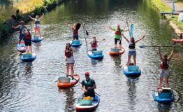 Paddle Boarders on Rochdale Canal