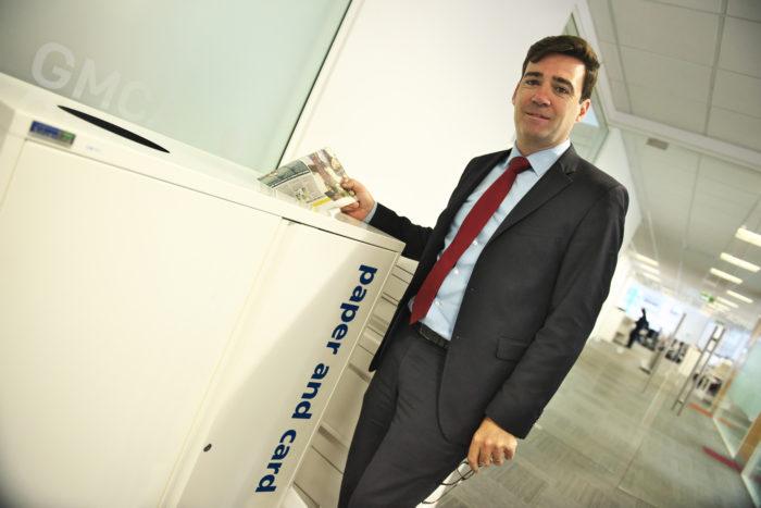 Andy Burnham recycles