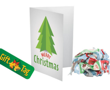 Christmas wrapping paper and card