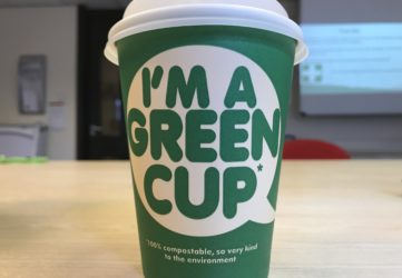 compostable coffee cup