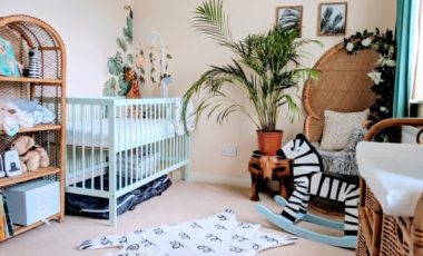 Upcycled nursery for a first baby