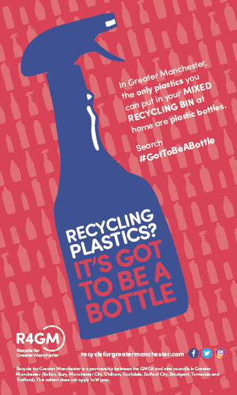 Recycling plastics? It's got to be a bottle print advert