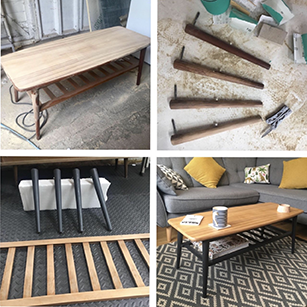 Tread Softly Process of Upcycling Coffee Table