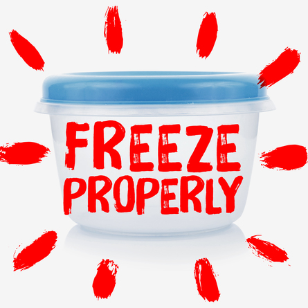 Tupperware container - Freeze properly