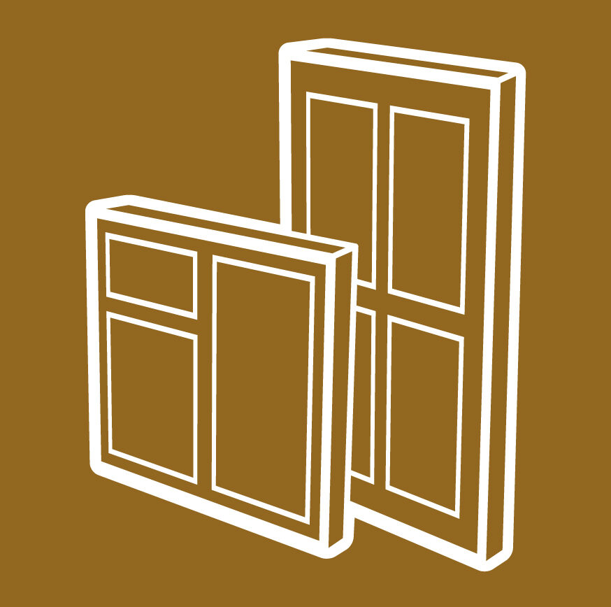 UPVC windows and doors icon