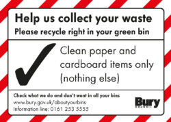 Helps us to collect your waste bin sticker