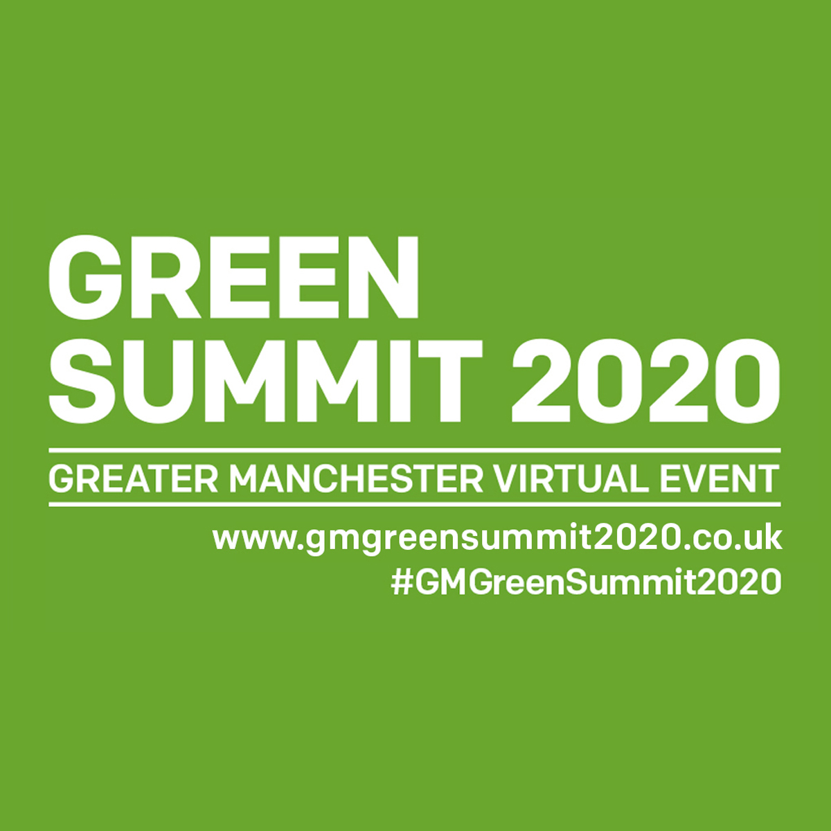 GreenSummit 2020 - Greater Manchester virtual event www.gmgreensummit2020.co.uk