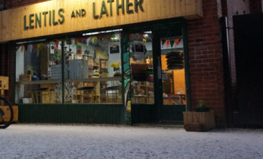 Lentils and Lather shop front
