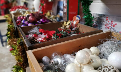Boxes of baubles and tinsel