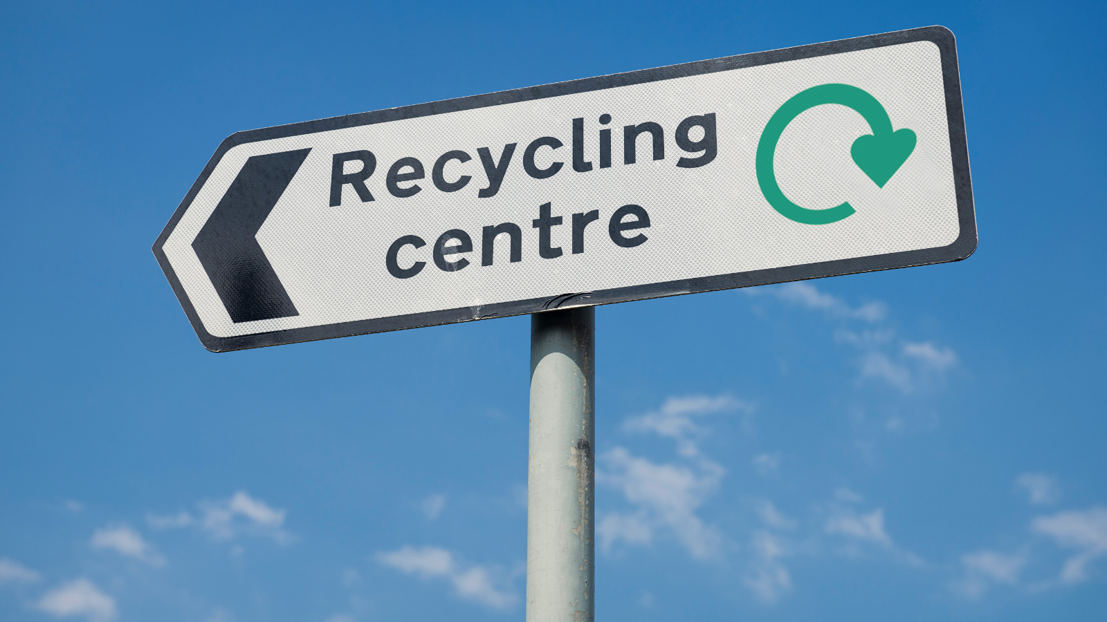 Recycling Centre road sign