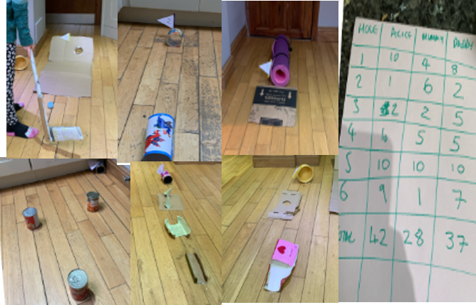 Alice creates six-hole crazy golf course from rubbish