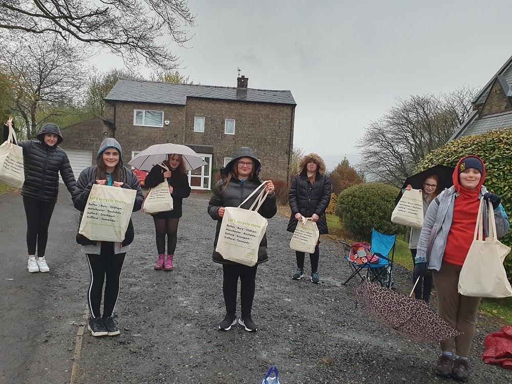 Rochdale Rangers holding their quiz prizes