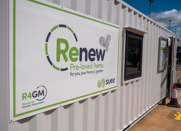 Renew Shop in Oldham featuring logo