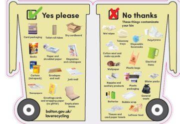 Bolton bin shaped leaflet